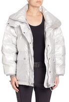 adidas by Stella McCartney Wintersport Silver Puffer Jacket