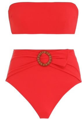Zimmermann Riders Buckle Waist Bikini