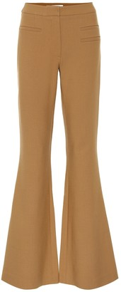 REJINA PYO Ashley flared wool-blend pants