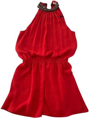 Ramy Brook Red Silk Dress for Women