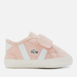 Lacoste Babies Sideline Crib 120 Trainers - Natural/White