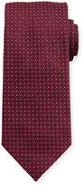 Eton Woven Dotted Fancy Box Silk Tie, Pink