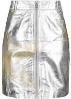 Star metallic zip skirt
