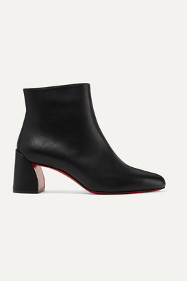 Christian Louboutin Turela 55 Leather Ankle Boots - Black
