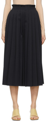 MM6 MAISON MARGIELA Black Knife-Pleated Culotte Trousers