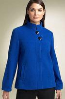 Stand Collar Wool Blend Jacket