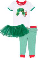 Intimo White Eric Carle Caterpillar Tutu Pajama Set - Girls