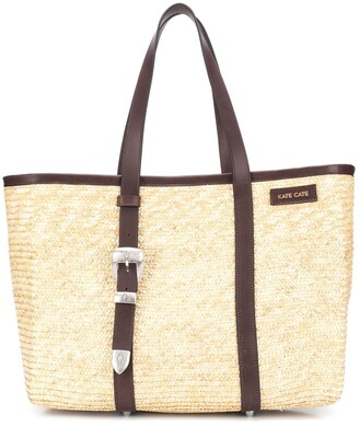 Kate Cate Spina straw tote bag