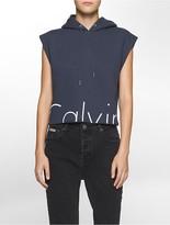 Calvin Klein Slim Fit Cropped Logo Hoodie