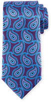 Ermenegildo Zegna Large Paisley Pines Printed Silk Tie, Purple