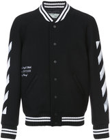 Off-White diagonals varsity jacket - men - Cotton/Polyester/Virgin Wool/Polyimide - XS