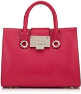 Jimmy Choo RILEY/S Dahlia Soft Grained Goat Leather Mini Tote Bag