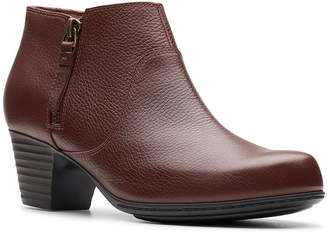 Clarks Collection Women Valarie2Sofia Leather Booties Women Shoes
