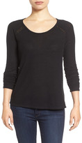Lucky Brand Lace Trim Thermal Tee