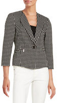 Nipon Boutique Checkered Fitted Blazer