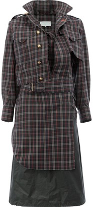 Maison Margiela Deconstructed Plaid Dress