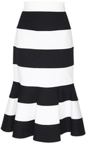 Dolce & Gabbana Striped Peplum Skirt