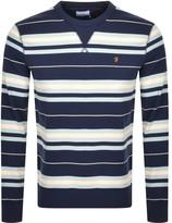 Farah Noble Stripe Sweatshirt Navy