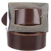 Dolce & Gabbana Chocolate Leather Belt
