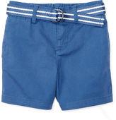Ralph Lauren Belted Stretch Cotton Short