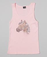 A Wish Pink Rhinestone Horse Tank - Toddler & Girls