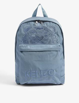 Kenzo Logo-embroidered nylon backpack
