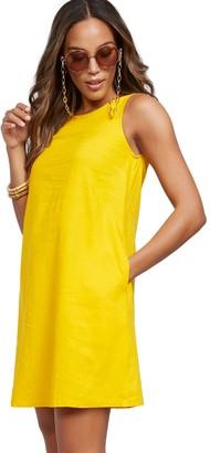 New York & Co. Sleeveless Linen Blend Dress