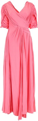 Lanvin Crossover Draped Gown