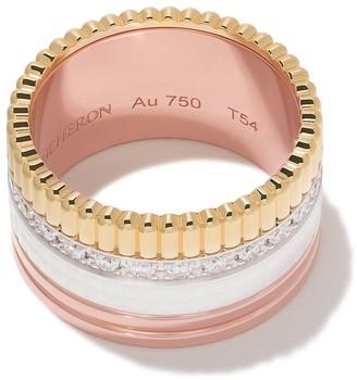 Boucheron 18kt rose, white and yellow Diamond Quatre White large ring
