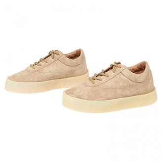 Yeezy Beige Leather Trainers