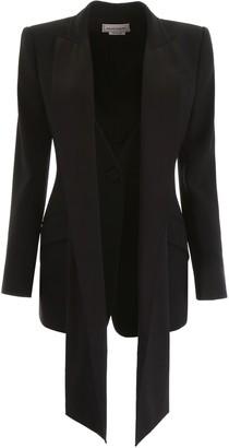 Alexander McQueen Tuxedo Jacket With Scarf