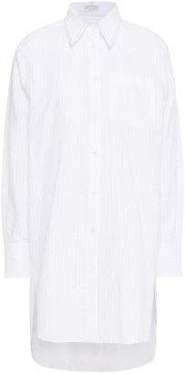 Brunello Cucinelli Bead-embellished Striped Cotton Shirt
