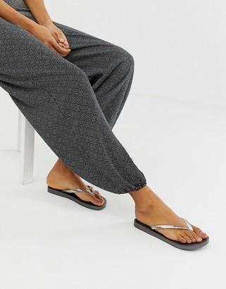 Ipanema glam flip flops-Silver