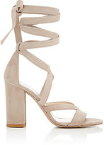 Barneys New York Women's Zea Ankle-Wrap Sandals-NUDE