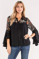 Miss Me Floral Bell Top