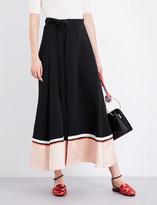 Roksanda Leif silk-blend midi skirt