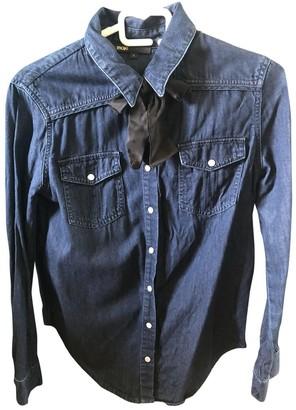 Maje Blue Denim - Jeans Top for Women