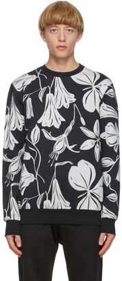 Paul Smith Black Woodcut Floral Sweatshirt