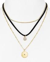 "Aqua Justine Layered Necklace, 14"" - 100% Exclusive"