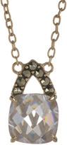 Judith Jack 10K Gold Plated Sterling Silver Swarovski Marcasite & CZ Pendant Necklace