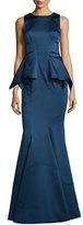 Zac Posen ZAC Adonia Sleeveless Peplum Mermaid Gown
