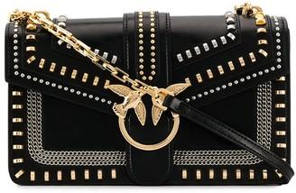 Pinko Love stud-embellished crossbody bag