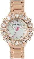 Betsey Johnson Women's Rose Gold-Tone Bracelet Watch 38mm BJ00612-03