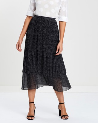Privilege Women's Black Pleated skirts - Cooper Pleated Skirt - Size One Size, 16 at The Iconic