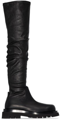 Bottega Veneta Thigh High Chunky Boots
