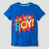 Cat & Jack Toddler Boys' Birthday Boy Graphic T-Shirt Blue