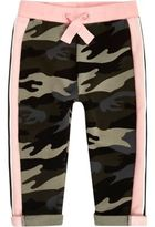 River Island Mini girls pink camo jogger