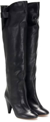 Isabel Marant Lacine leather over-the-knee boots