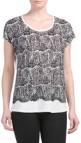 Scallop Lace Graphic Tee
