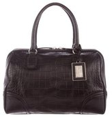 Giorgio Armani Embossed Leather Shoulder Bag